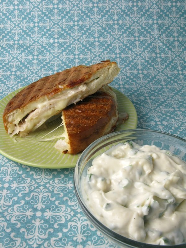 Kitchen Trial and Error: panini with garlic basil mayo