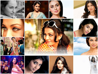 New Year 2011 Calendar, Hot Bollywood Actress Desktop Wallpapers