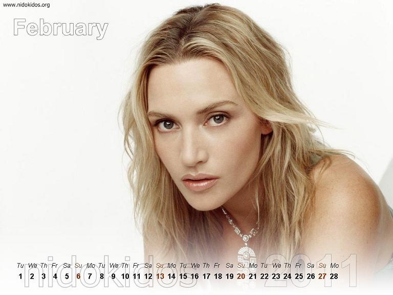 Kate Calendar Wallpaper : Kate winslet desktop calendar titanic actress