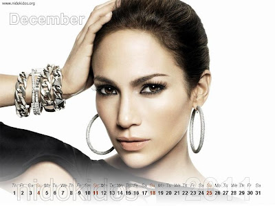 New Year 2011 Calendar, Jennifer Lopez Desktop Wallpapers