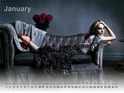 New Year 2011 Calendar, Natalie Portman Desktop Wallpapers