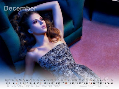 New Year 2011 Calendar, Scarlett Johansson Desktop Wallpapers