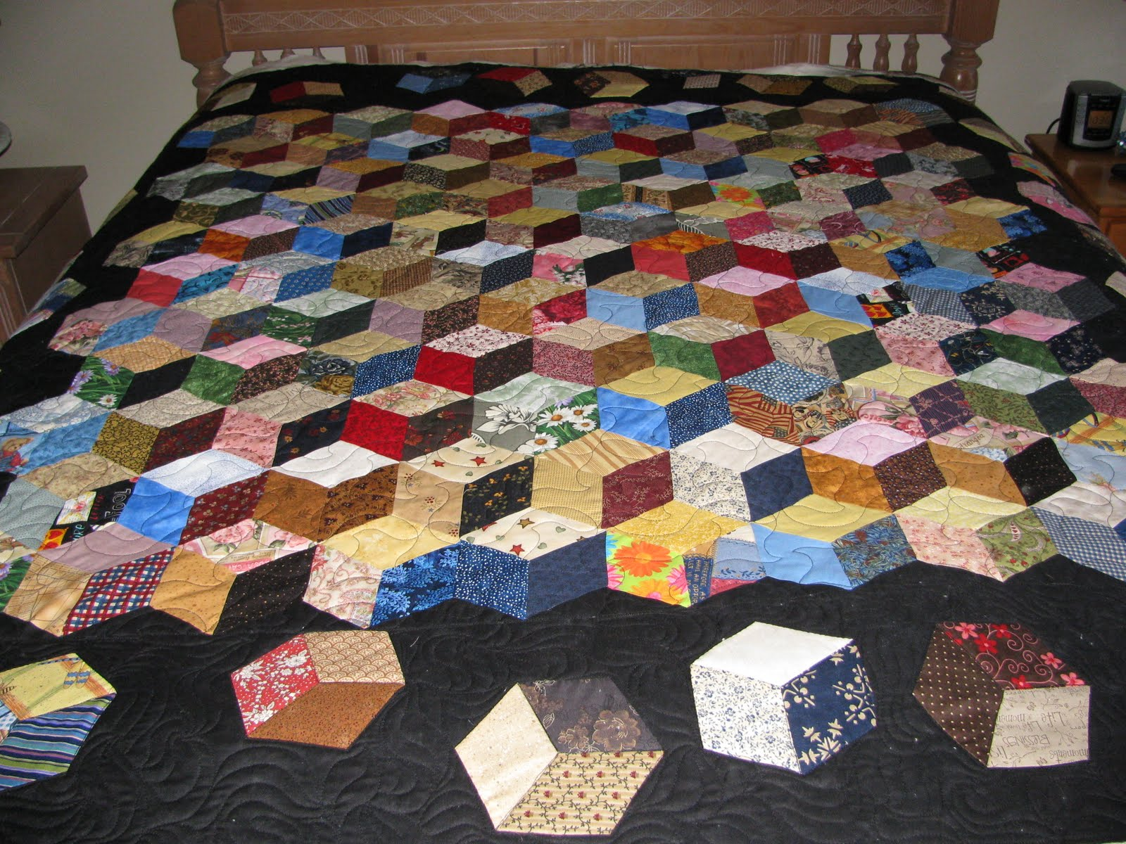 1000 Ideas About Tumbling Blocks On Pinterest Quilts