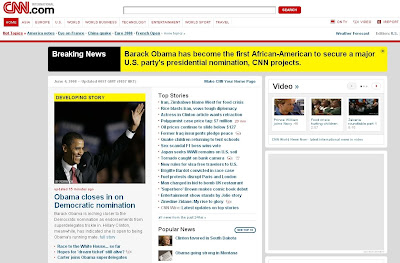 CNN Screenshot - Obama Makes History