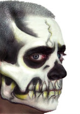 Halloween Makeup Costumes - Ez Mu Kit Voo Doo Skull