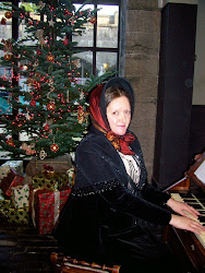 Playing the harmonium at Penrhyn last Christmas