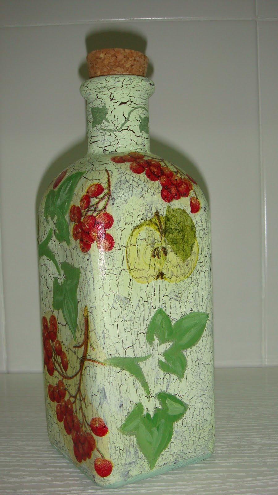 Manualidades mimos pilar vicente del barrio botellas decoradas - Botellas decoradas manualidades ...