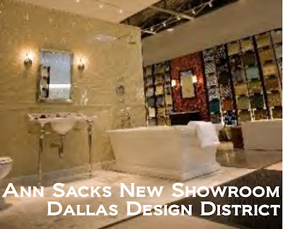 Something beautiful journal ann sacks womens bathroom showroom on display Dallas design district bathroom