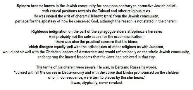 Spinoza's ideas disagree equally well with the orthodoxies of other religions as with Judaism