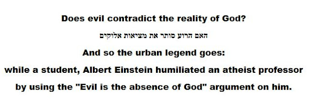 Does evil contradict the reality of God