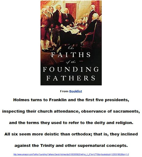 The Founding Fathers inclined against the Trinity and other supernatural concepts.