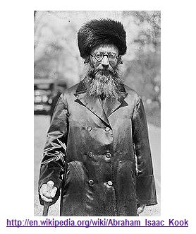Abraham Isaac Kook (1865–1935)-the first Ashkenazi chief rabbi of the British Mandate for Palestine