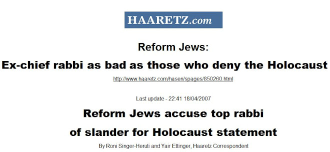 Rabbi as bad as a Holocaust denier