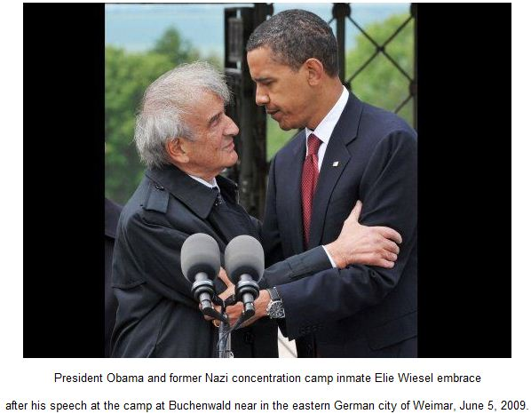 President Obama and former Nazi concentration camp inmate Elie Wiesel