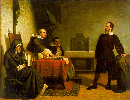 Galileo facing the Roman Inquisition - Cristiano Banti's 1857 painting
