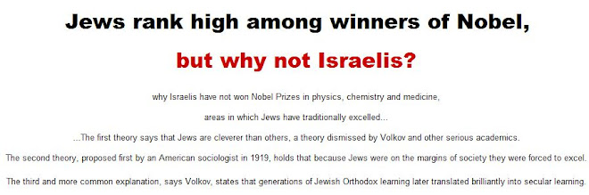 Jews rank high among winners of Nobel