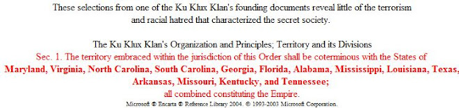 The Ku Klux Klan's Organization and Principles; Territory and its Divisions
