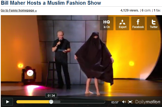 Bill Maher Hosts a Muslim Dior Fashion Show