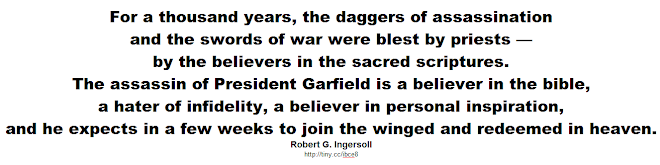 The assassin of President Garfield is a believer in the bible