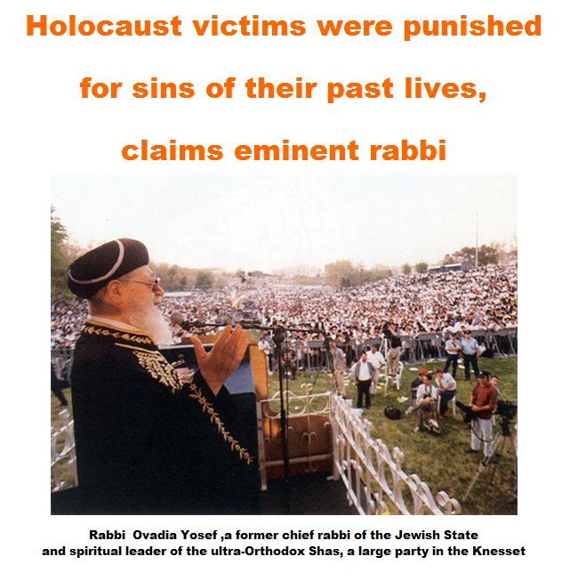 Holocaust victims were punished