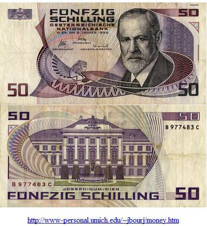 Freud, Sigmund Austrian money