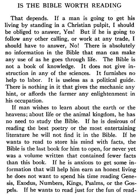 Is the Bible worth reading