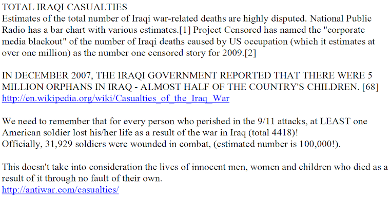 TOTAL IRAQI CASUALTIES