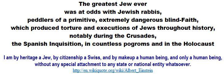 Einstein was at odds with Jewish rabbis