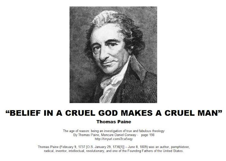 BELIEF IN A CRUEL GOD MAKES A CRUEL MAN