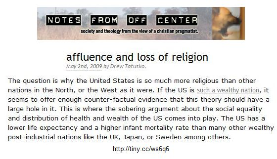 Affluence and loss of religion