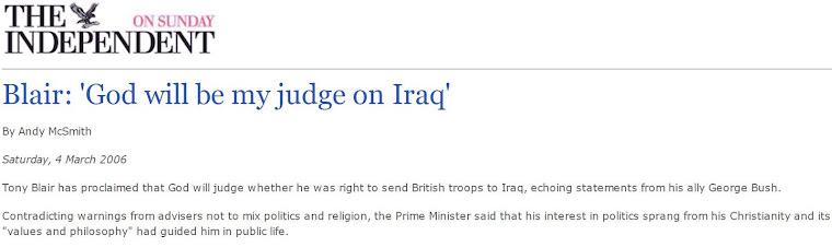 Blair: 'God will be my judge on Iraq'