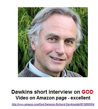 VIDEO: Dawkins, the author of The God Delusion short interview on GOD