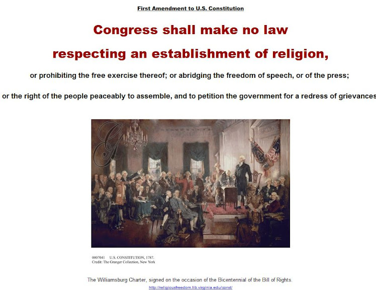 Congress shall make no law respecting an establishment of religion