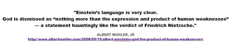 Einstein's language is very clear - ALBERT MOHLER
