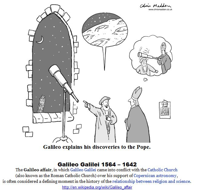 Galileo and the Pope.