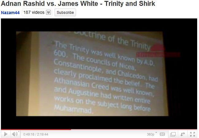 Doctrine of trinity.