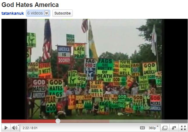 God Hates America - Westboro Church