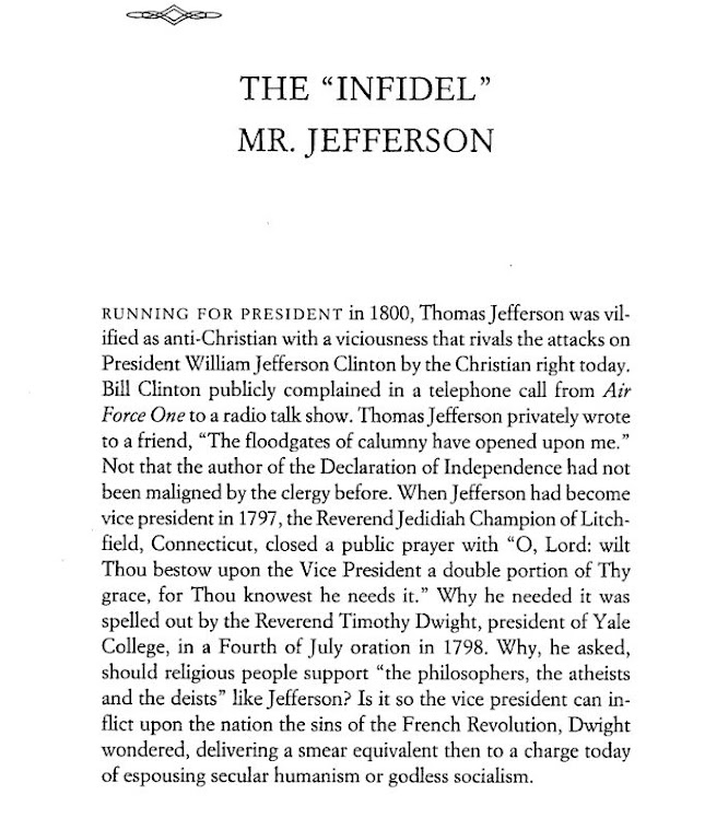 The infidel Jefferson
