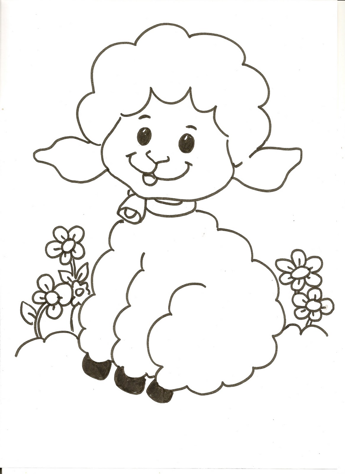 evangeliza ovelha para colorir