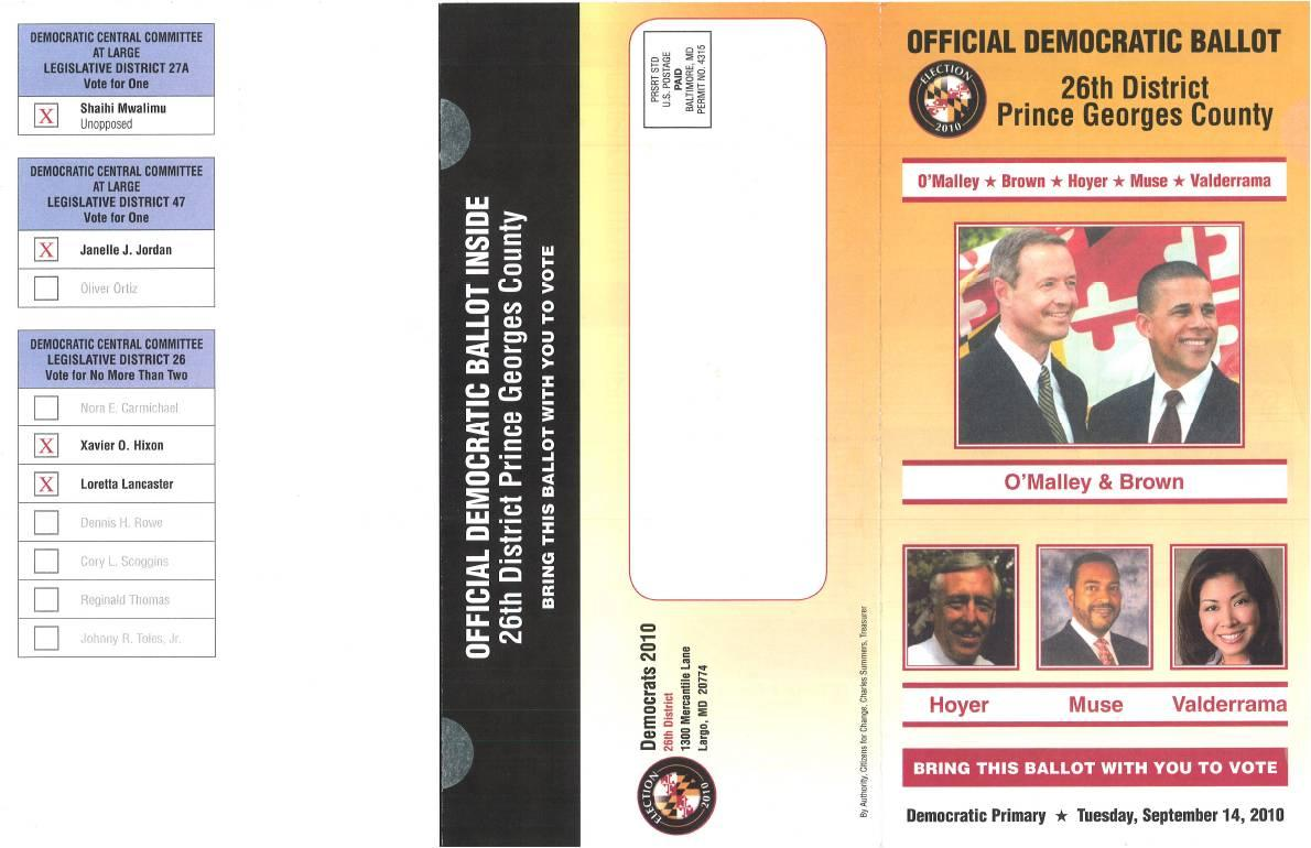 Maryland Politics Watch: Illegal Sample Ballot Goes Out in Prince ...