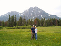 Valley Creek 2006 - in front of the majestic sawtooth mountains