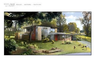 Heavy Rain Set Design Art Concept: House Before