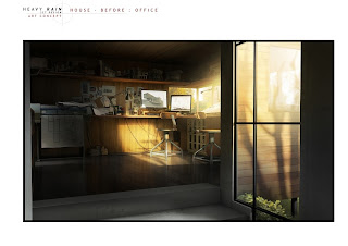 Heavy Rain Set Design Art Concept: House Before Office
