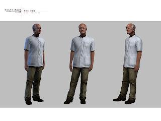 Heavy Rain Character Design: DOC Body Texture
