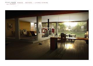 Heavy Rain Set Design Art Concept: House Before - Living Dining