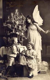 Старинные рождественские фотооткрытки.