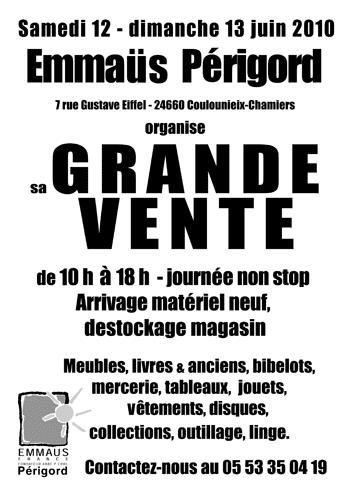 Grande vente Emmaüs Périgord juin 2010