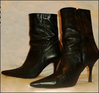 bota feminina de couro