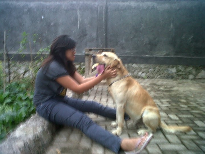 with my greatest dog in the world! yap. GLAD