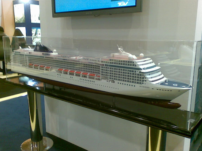 Modelo do navio MSC Orchestra